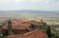 Vista dal Castello di scarlino sul paese - Grosseto - Maremma Toscana